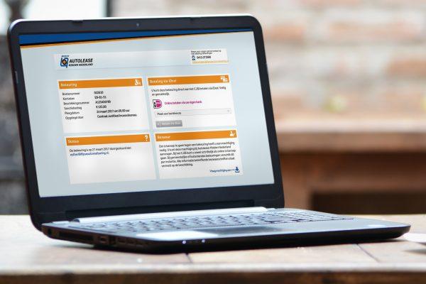 Boeteportaal voor Autolease Midden Nederland